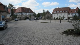 View of the parade route including the museum in Ziegenhain.
