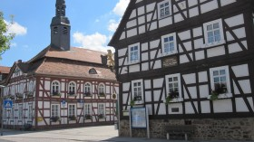 Birth place of the painter Prof. Dr. Karl Bantzer in Willingshausen ...