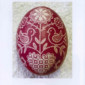 "Schwalm ""embroidery"" on Easter eggs"