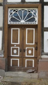 Typical Schwalm door in Gungelshausen.