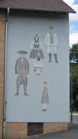 Wall painting in Willingshausen.
