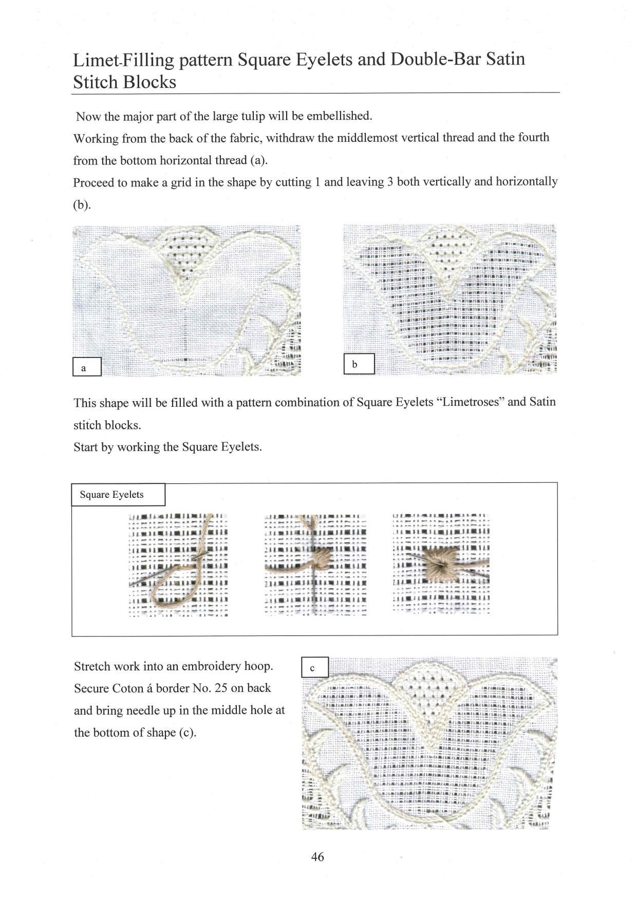 Basic Principles of Schwalm Whitework 5 / 8