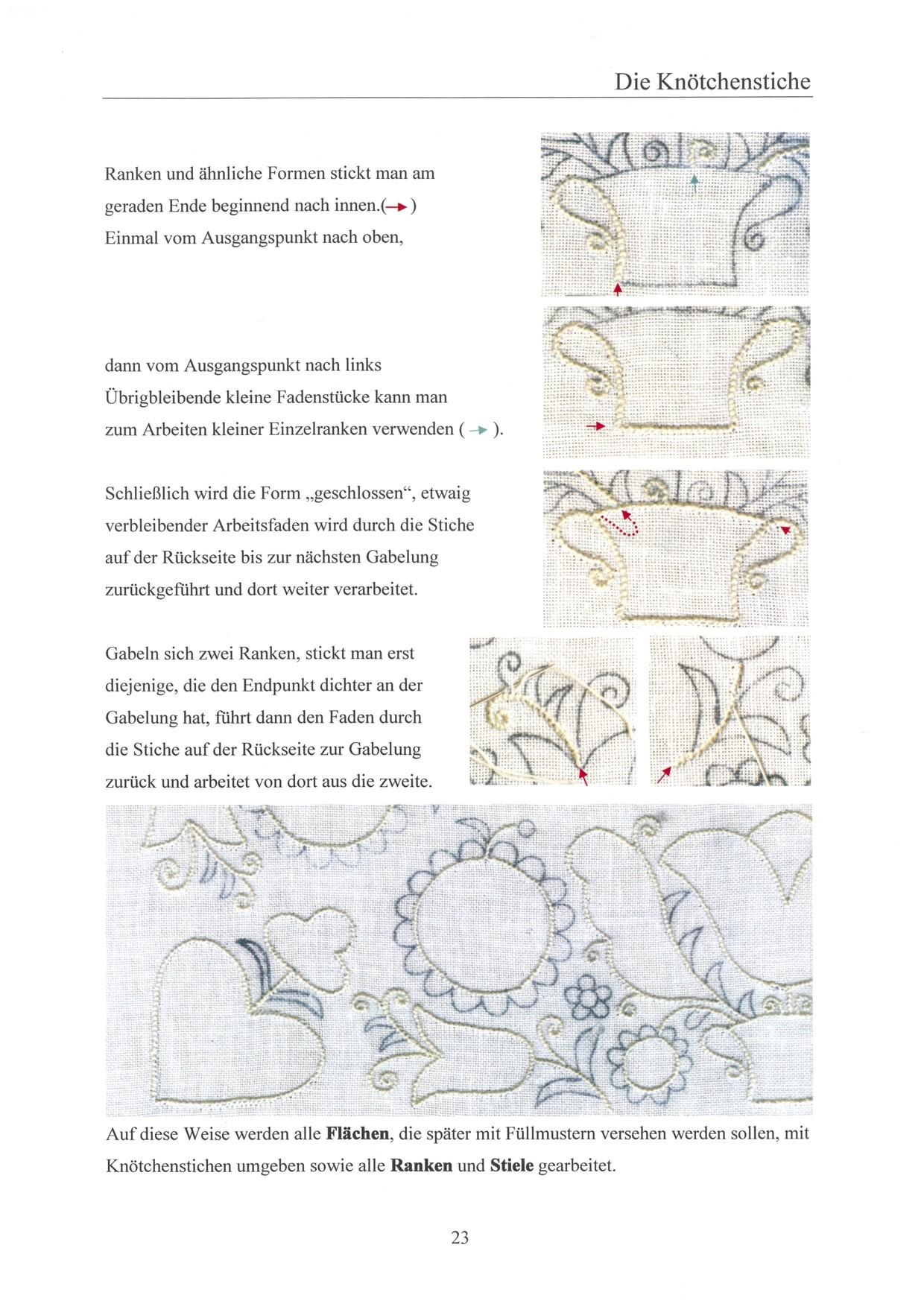 Grundlagen der Schwälmer Weißstickerei - für Linkshänder 3 / 8