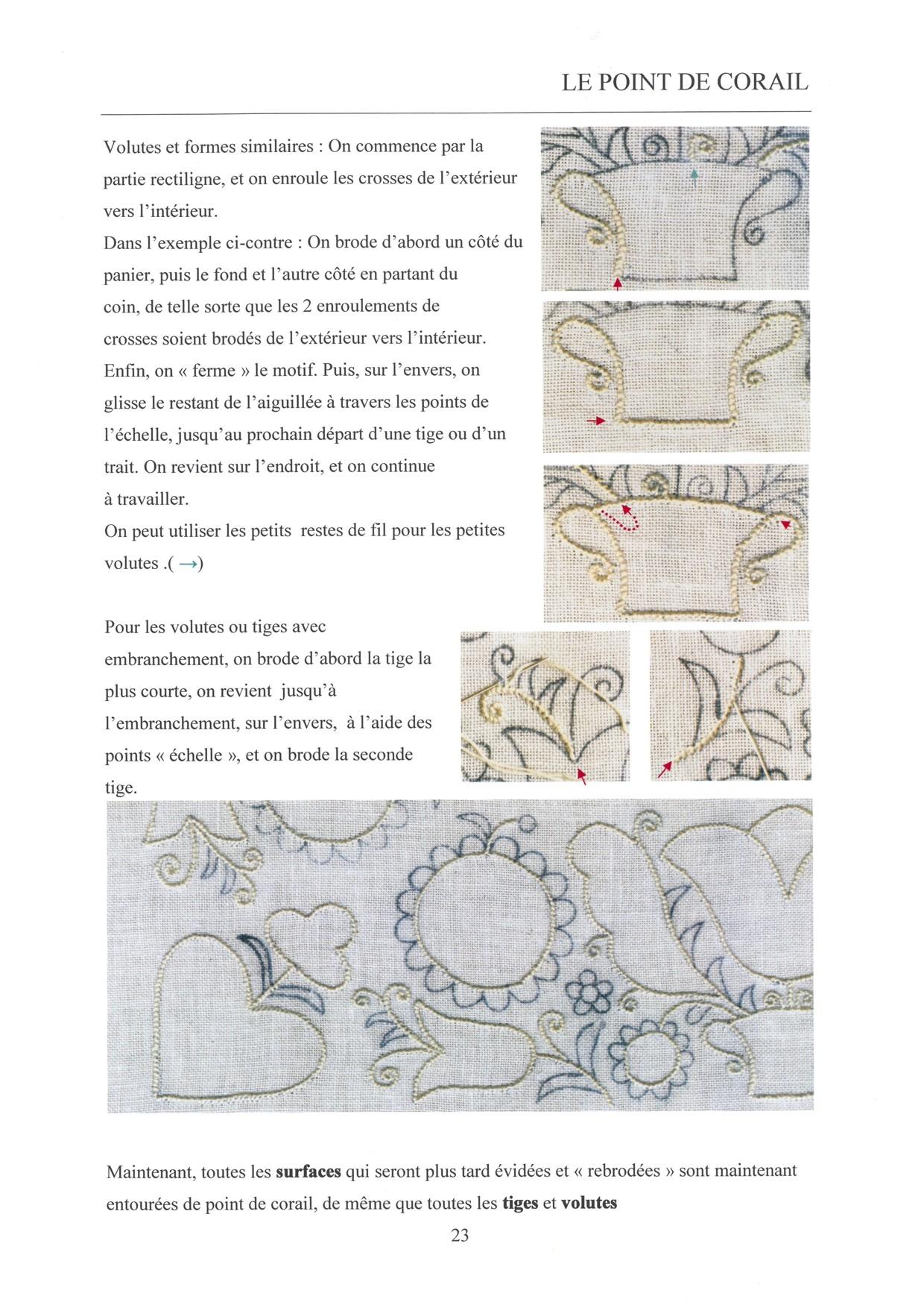 LES BASES DE LA BRODERIE DE SCHWALM - for left-handed 3 / 8