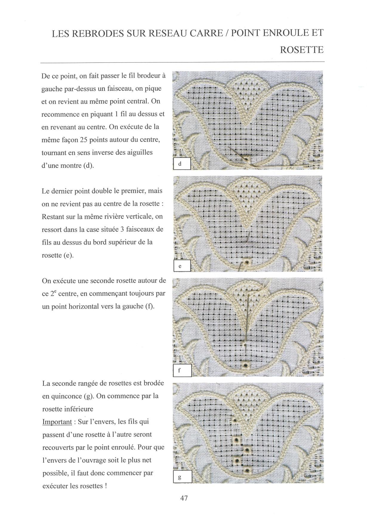 LES BASES DE LA BRODERIE DE SCHWALM - for left-handed 6 / 8