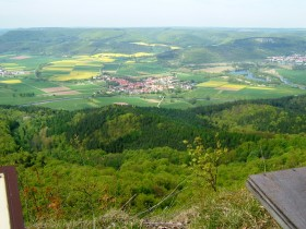 View from the Heldrastone to Heldra