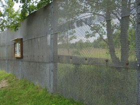 Rudiment of the former border metall fence
