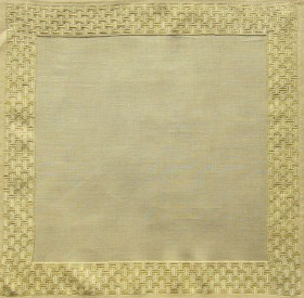 Satin stitches are effective and precious on a tea cloth's (2-2000) hem decoration.