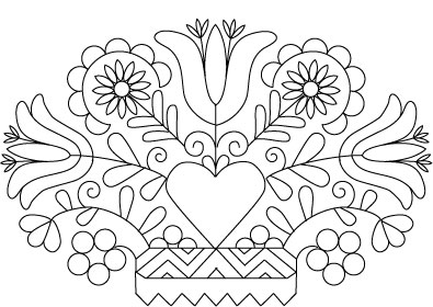 pennsylvania dutch hex sign coloring pages - photo #25
