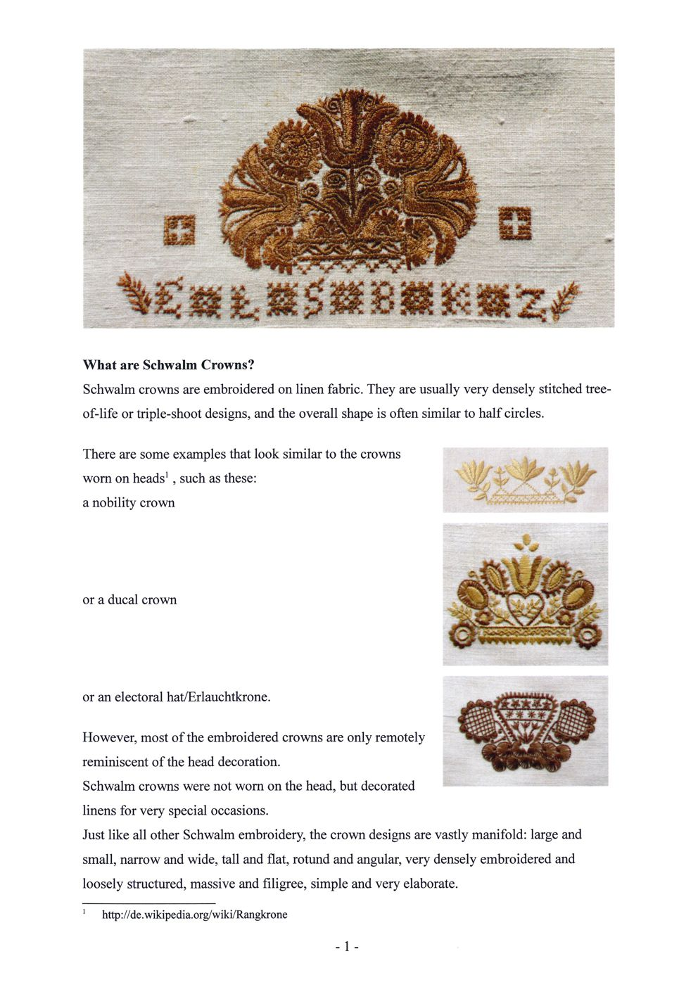 Schwalm Crowns 2 / 2