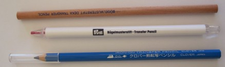 Buegelmusterstifte neu | iron-on transfer pencils new