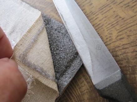 entfernen des ursprünglichen Leinens | removing the old linen