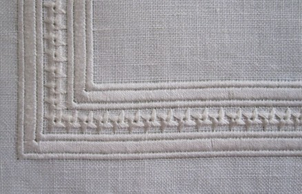 Hem with a mitred corner