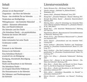 Die Schwälmer Tracht - Heinz Rübeling/Heinz Metz/Dirk Ordemann - contents