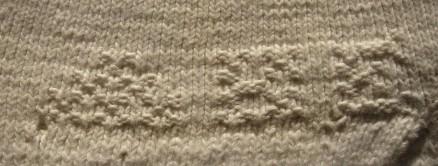 eingestrickte Initialen | knitted initials