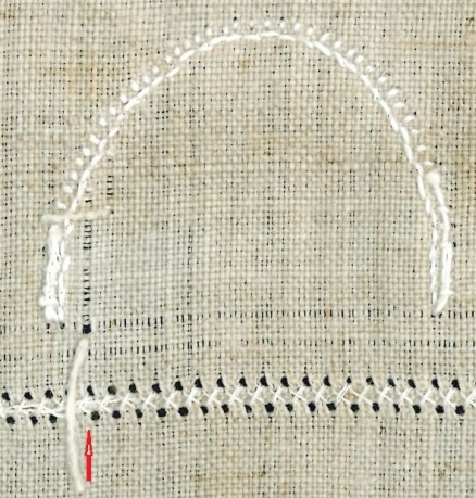Laengsfaden-Auszug 2 | withdrawing vertical threads 2