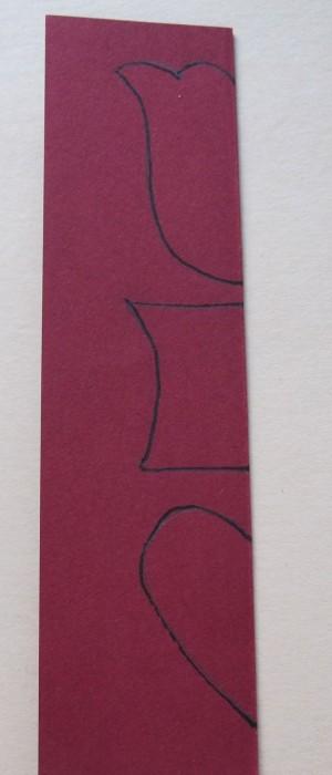 aufgezeichnete Motivhälften | drawn motif halfs