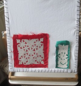 rotating frame for template embroidery 1