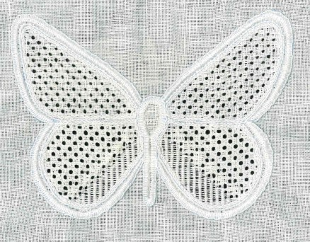 fertiger Schmetterling, ungewaschen | finished, but unwashed butterfly