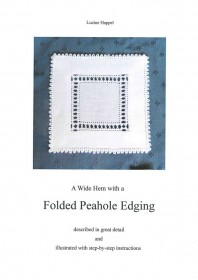 A Wide Hem with a Folded Peahole Edging