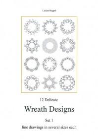 12 Delicate Wreath Designs Set 1