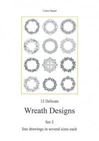 12 Delicate Wreath Designs Set 2