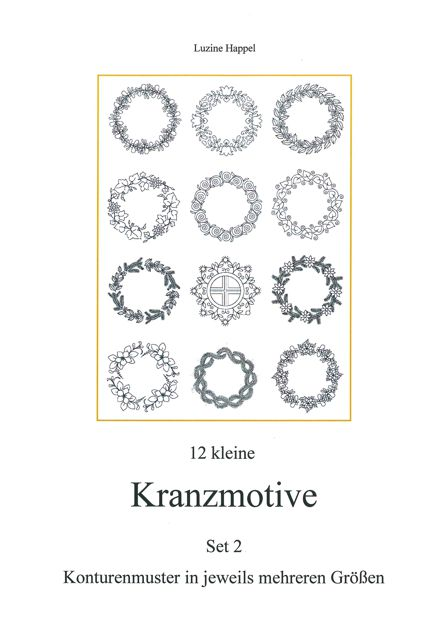 12 kleine Kranzmotive Set 2