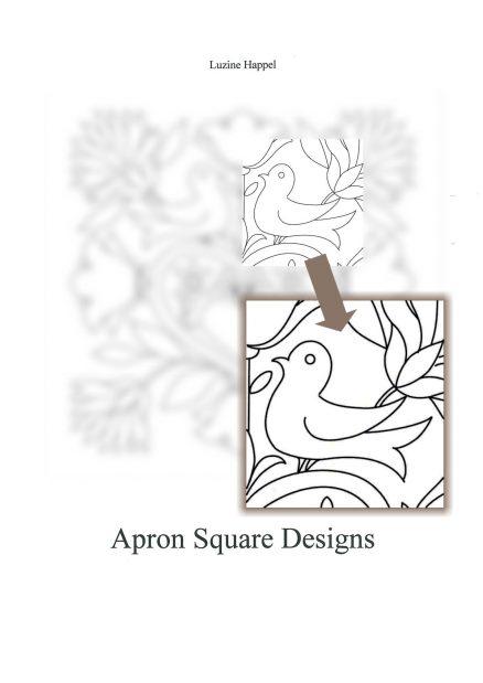 Schwalm Whitework - Apron Square Designs - Luzine Happel