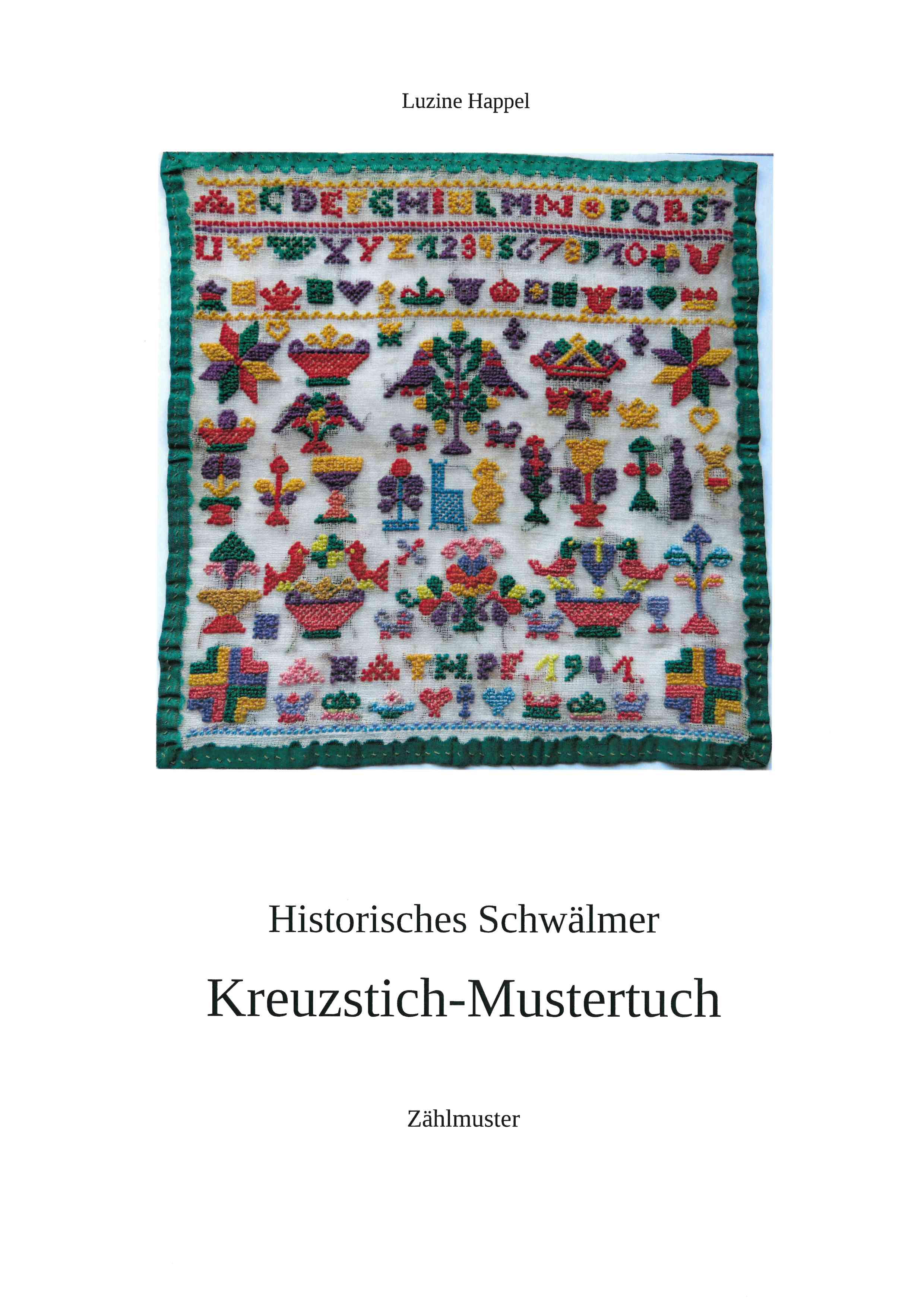 Historisches Schwälmer Kreuzstich-Mustertuch
