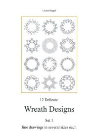 12 Delicate Wreath Designs Set 1
