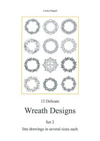 12 Delicate Wreath Designs Set 2