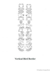 Vertical Bird Border - download